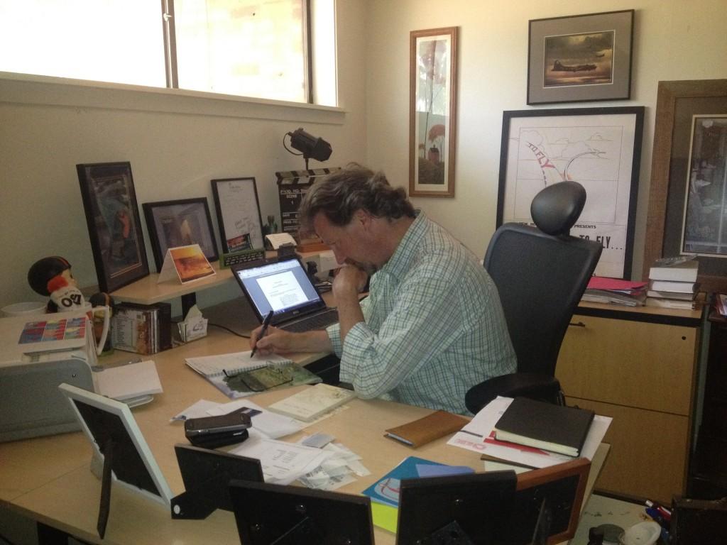 John at Desk concentrating